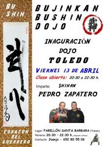 Clase de innaguración del dojo de Toledo
