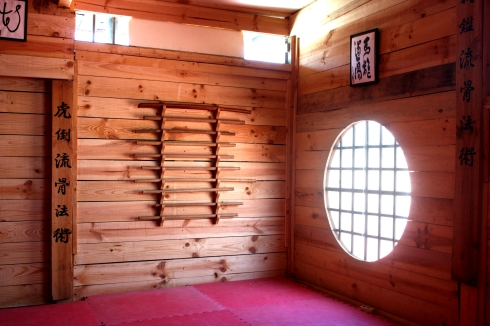 Interior del dojo Uma Ryu del Colegio Educrea