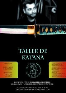 Taller de Katana impartido por el Shihan Pedro Zapatero el 31 de Marzo de 2012