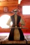 Interior Dojo Uma Ryu 2012 - Detalle Samurai en miniatura