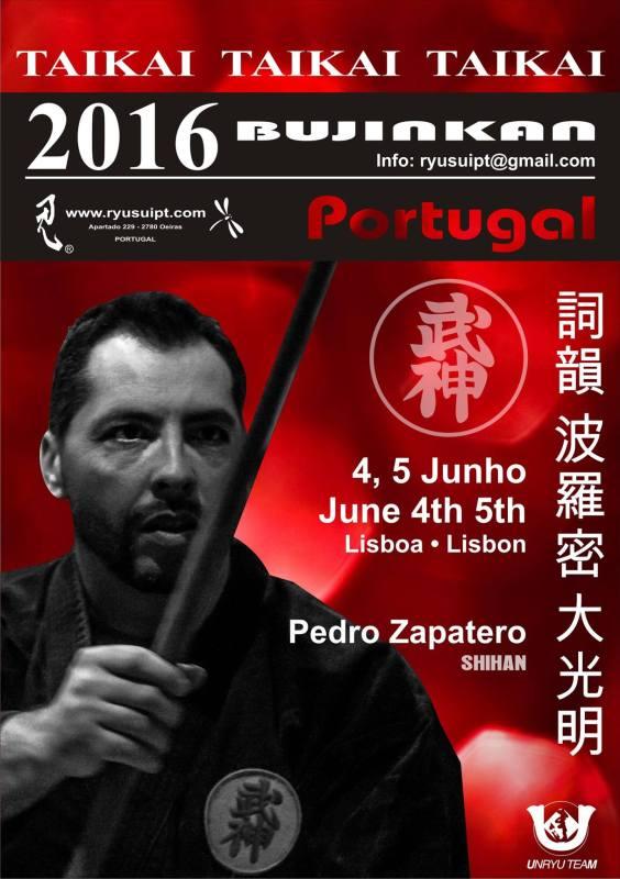 Taikai del Shihan Pedro Zapatero en Lisboa, Portugal, el 4 y 5 de junio