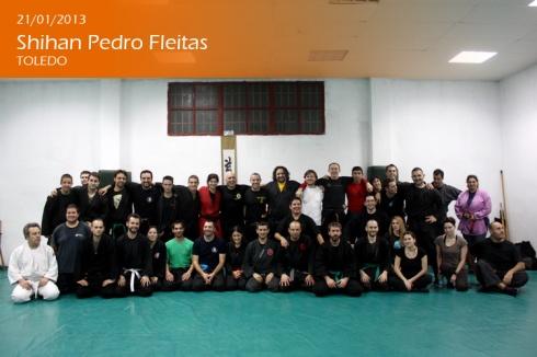 Participantes en el seminario impartido por el Shihan Pedro Fleitas