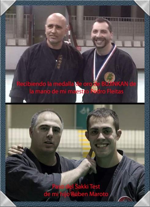 Entrega de la medalla de honor de Bujinkan a Pedro Zapatero y el nuevo Shidoshi Ruben Maroto