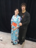 Japan Weekend Madrid 2014 -Backstage, Dani y Bea