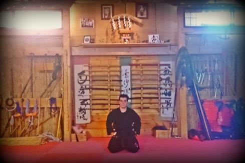 Jonatan en Uma Ryu, junto al kamiza
