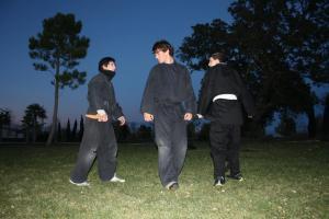 Joaquín en un entrenamiento nocturno