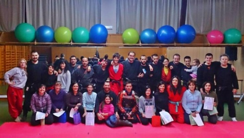 Grupo de entrenamiento de la última sesión en Corella 28 de febrero de 2014
