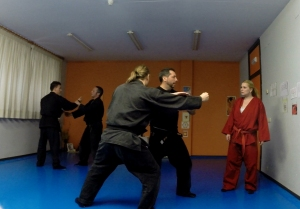 Pedro mostrando una técnica en Corella - Febrero de 2014