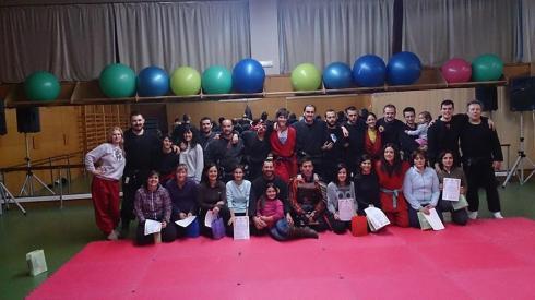 Grupo de entrenamiento de la sesión de cierre en Corrella - Febrero de 2014